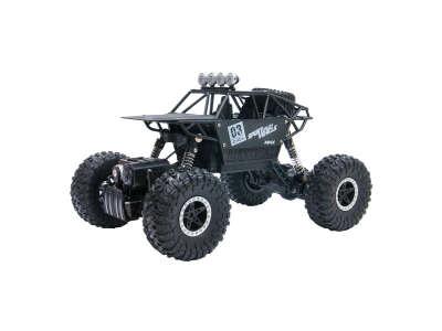 Автомобиль OFF-ROAD CRAWLER на р/у – MAX SPEED (матовый черный, метал. корпус, 1:18)
