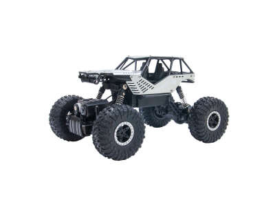 Автомобиль OFF-ROAD CRAWLER на р/у – ROCK (серебристый, метал. корпус, 1:18)