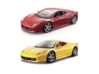 Автомодель - 458 ITALIA (ассорти желтый, красный, 1:24)