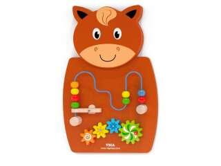 Бизиборд Viga Toys Лошадка с лабиринтом (50678)