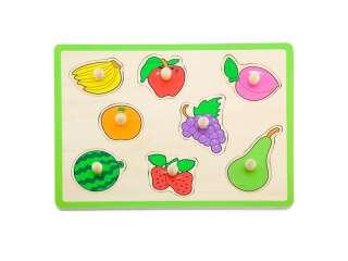 Деревянная рамка-вкладыш Viga Toys Цветные фрукты (50020)