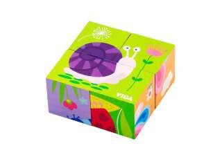 Деревянные кубики-пазл Viga Toys Насекомые (50160)