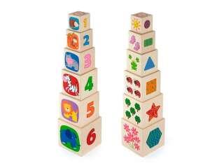 Деревянные кубики-пирамидка Viga Toys с цифрами (50392)