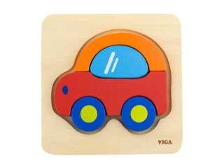 Деревянный мини-пазл Viga Toys Машинка (50172)