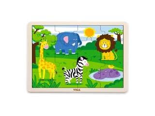 Деревянный пазл Viga Toys В Африке, 16 эл. (51449)