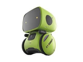 Интерактивный робот с голосовым управлением – AT-ROBOT (зелёный)
