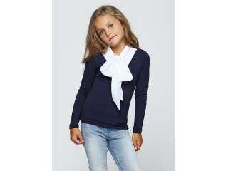 Кофта для девочек - G-17554W_синий+белый