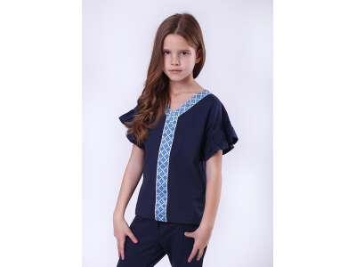 Кофта для девочек - G-19903W_синий с голубым