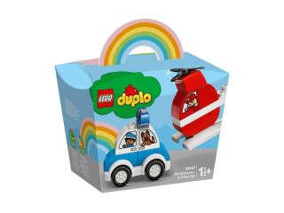 LEGO DUPLO Пожарный вертолет и полицейская машина (10957)