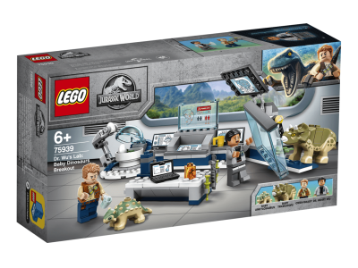 LEGO Jurassic World Лаборатория доктора Ву: Детский прорыв динозавров (75939)