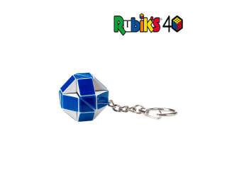 Мини-головоломка RUBIK'S – ЗМЕЙКА БЕЛО-ГОЛУБАЯ (с кольцом)