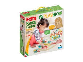 Набор серии 'Play Bio' - ДЛЯ ЗАНЯТИЙ МОЗАИКОЙ FANTACOLOR BABY (большие фишки (21 шт.) + доска)