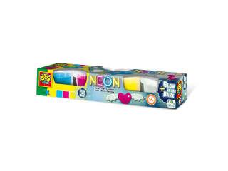 Незасыхающая масса для лепки - НЕОН (4 цвета, в пластиковых баночках)