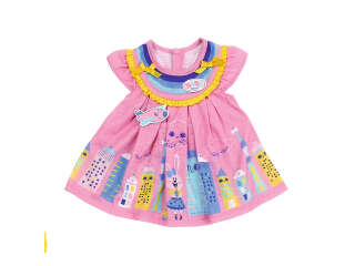 Одежда для куклы BABY BORN - МИЛОЕ ПЛАТЬЕ (розовое)