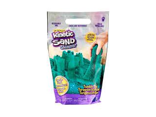Песок для детского творчества - KINETIC SAND БИРЮЗОВЫЙ БЛЕСК (907 g)