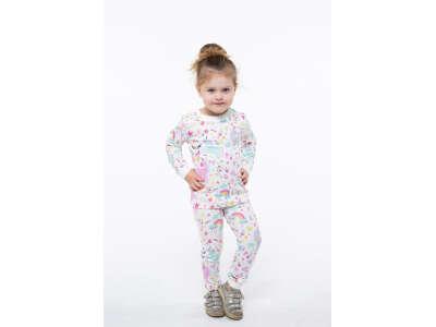 Пижама для девочек - G-20633W_молочный