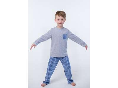 Пижама для мальчиков - В-19621W_серый