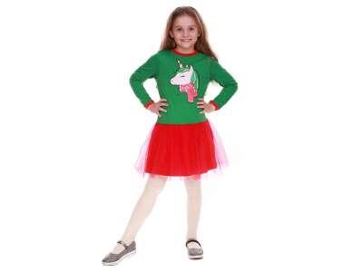Платье для девочек - G-18812W-2_зеленый