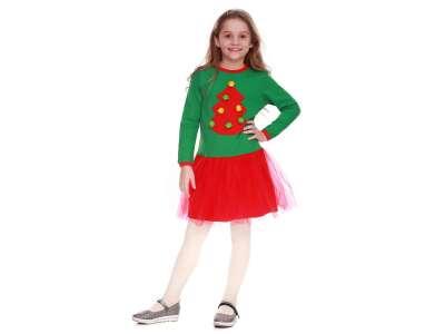 Платье для девочек - G-18814W-2_зеленый