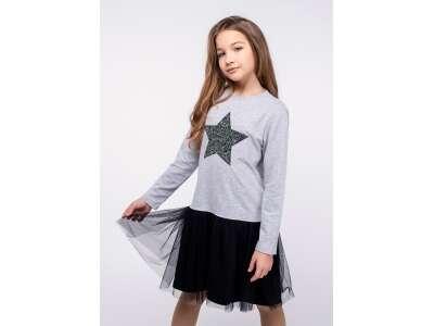 Платье для девочек - G-19843W_серый