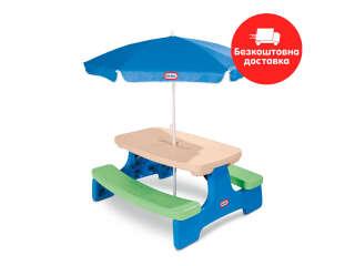 Столик для пикника серии 'Easy Store' - ЛЕТО (с зонтиком)