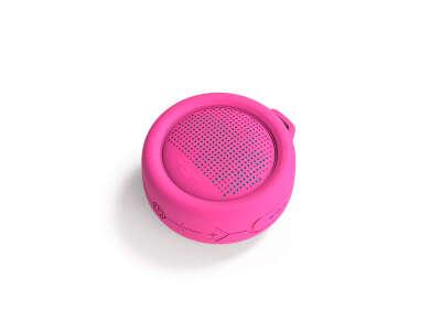Влагозащищенная акуст. система XOOPAR – SPLASH POP (роз.,Bluetooth,SD-карта,USB-каб, карабин)