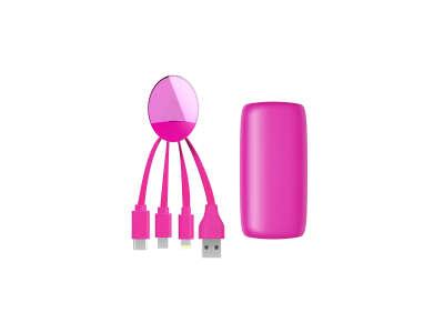Внешняя Портативная Батарея Weekender (5000 Ма, Розовая)